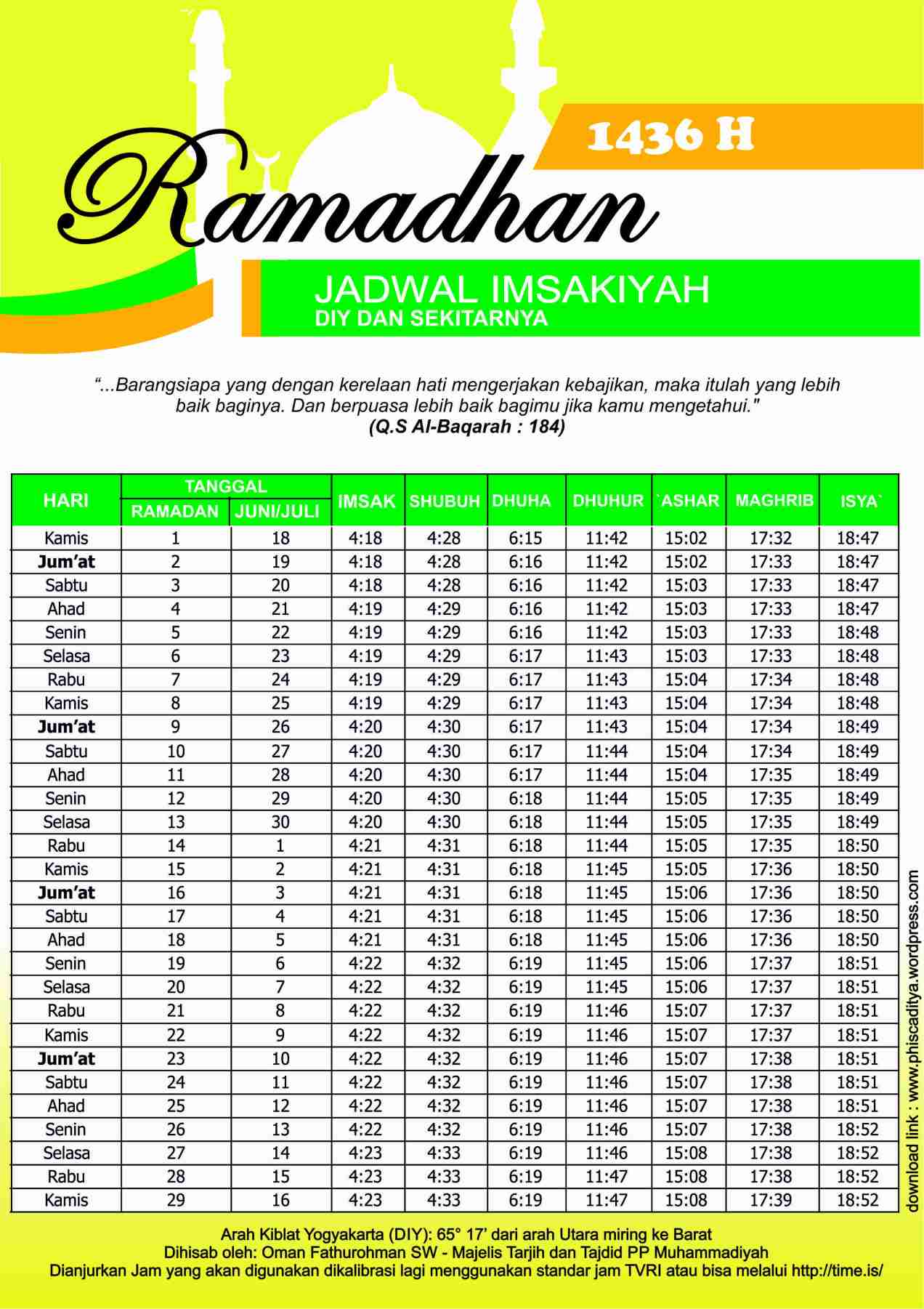 [Free Download – JPEG dan CDR] Jadwal Imsakiyah ...